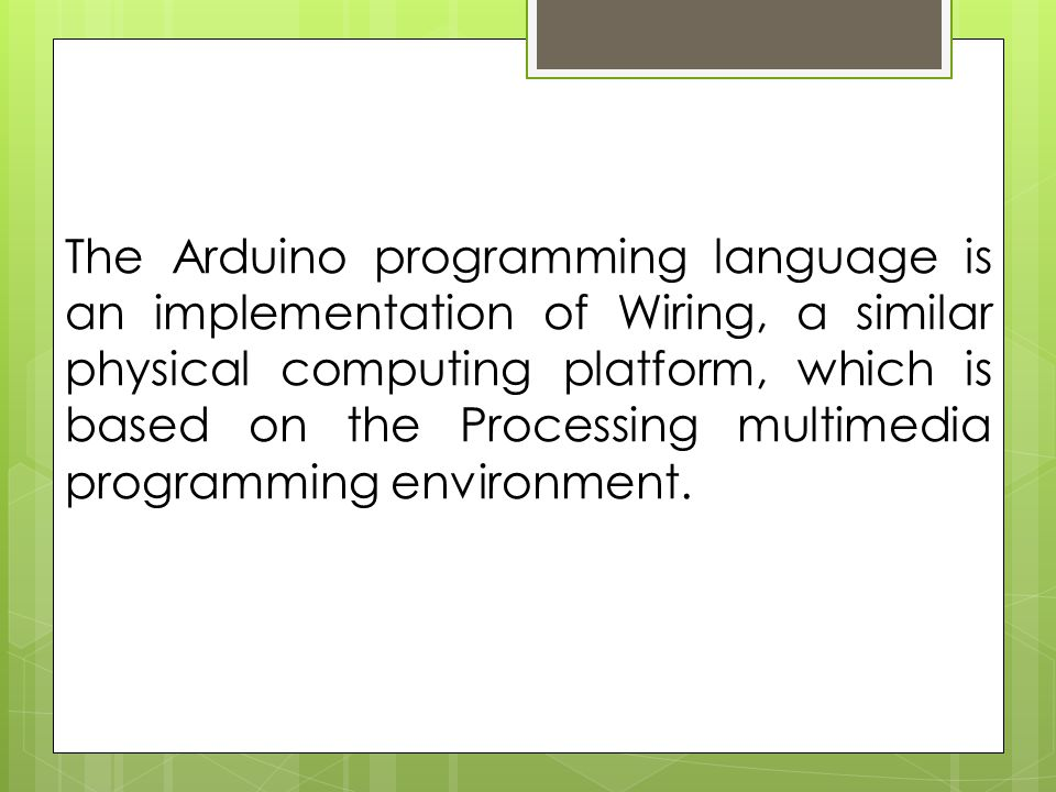 arduino arduino is a tool for making computers that can sense and rh slideplayer com Language Processing Test for Adolescents Language Processing Delay