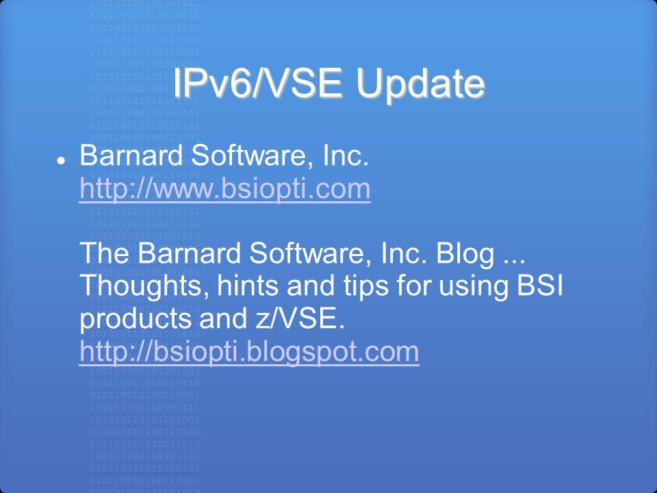 Ipv6 Vse Update Wavv 2012 Jeffrey Barnard Barnard Software Inc C 2012 By Barnard Software Inc Ppt Download