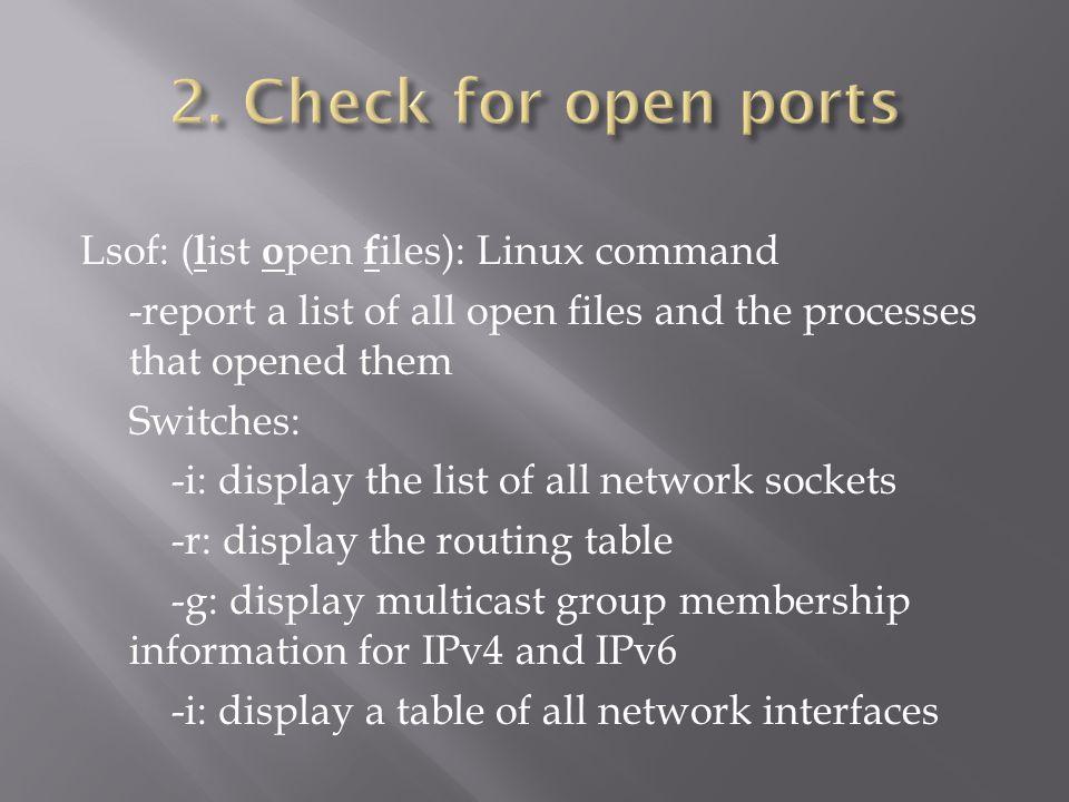Gathering Network & Host Information: Scanning & Enumeration