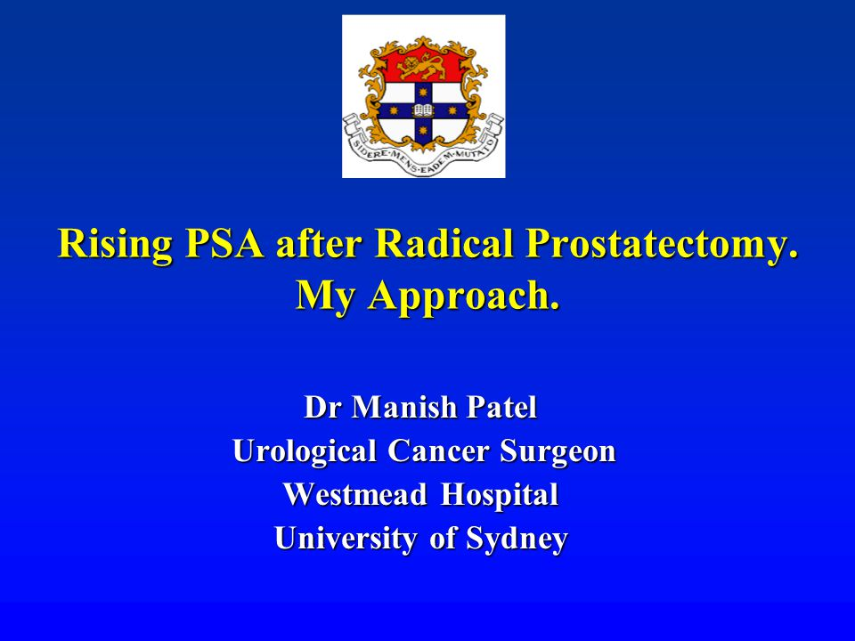 Rising PSA after Radical Prostatectomy. My Approach.