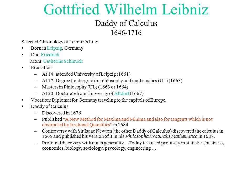 gottfried wilhelm leibniz calculus