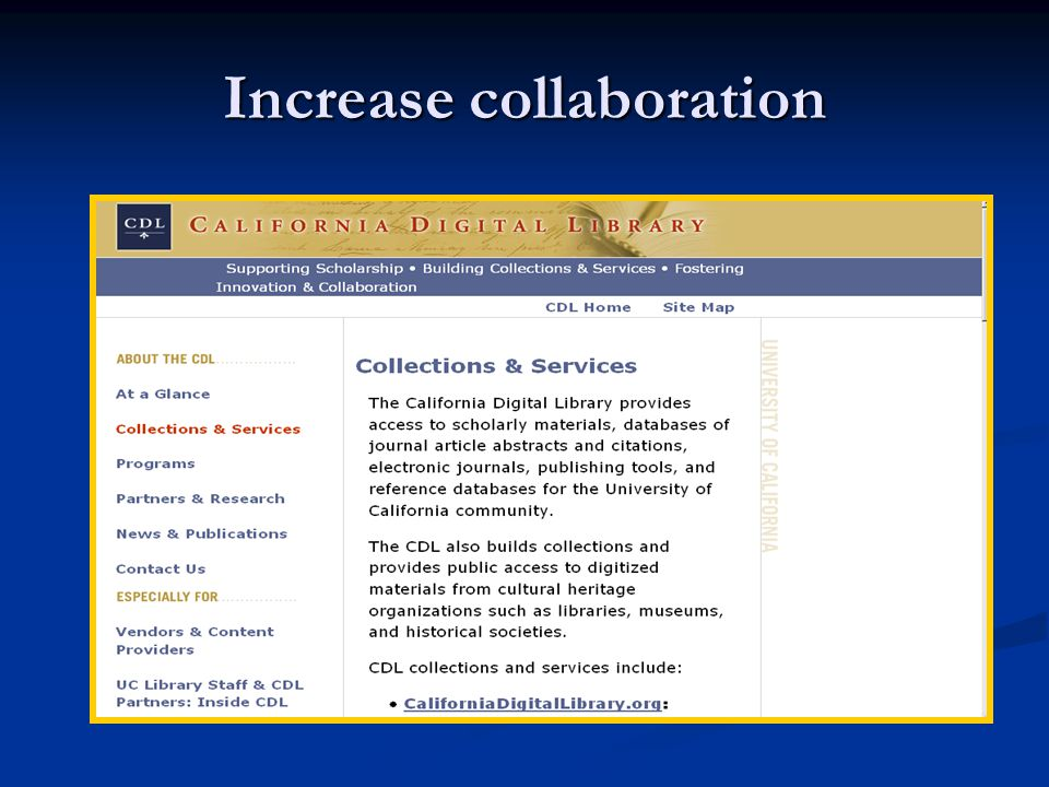Increase collaboration