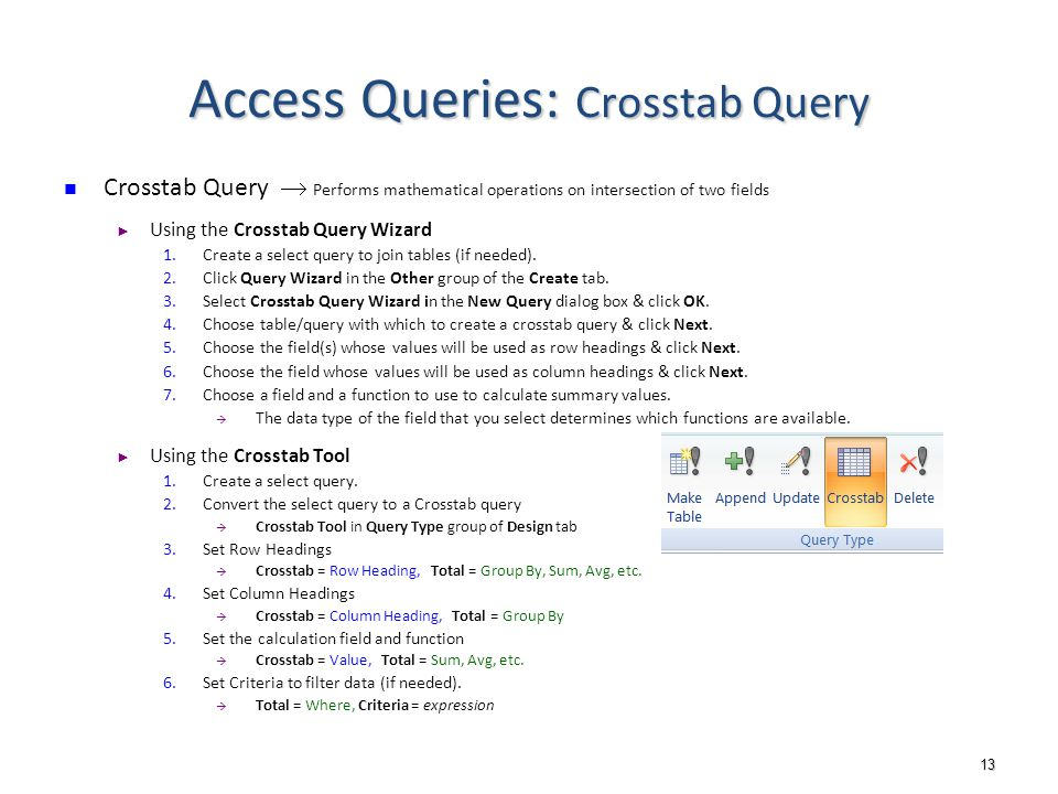 1 DB Implementation: MS Access Queries  2 Outline Access Queries