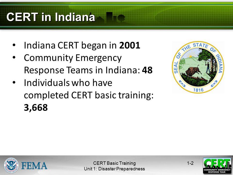 Community Emergency Response Team  What is CERT? Community