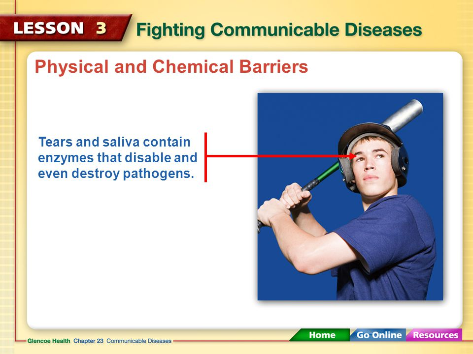 Physical and Chemical Barriers Physical barriers, such as the skin, block pathogens from invading your body.