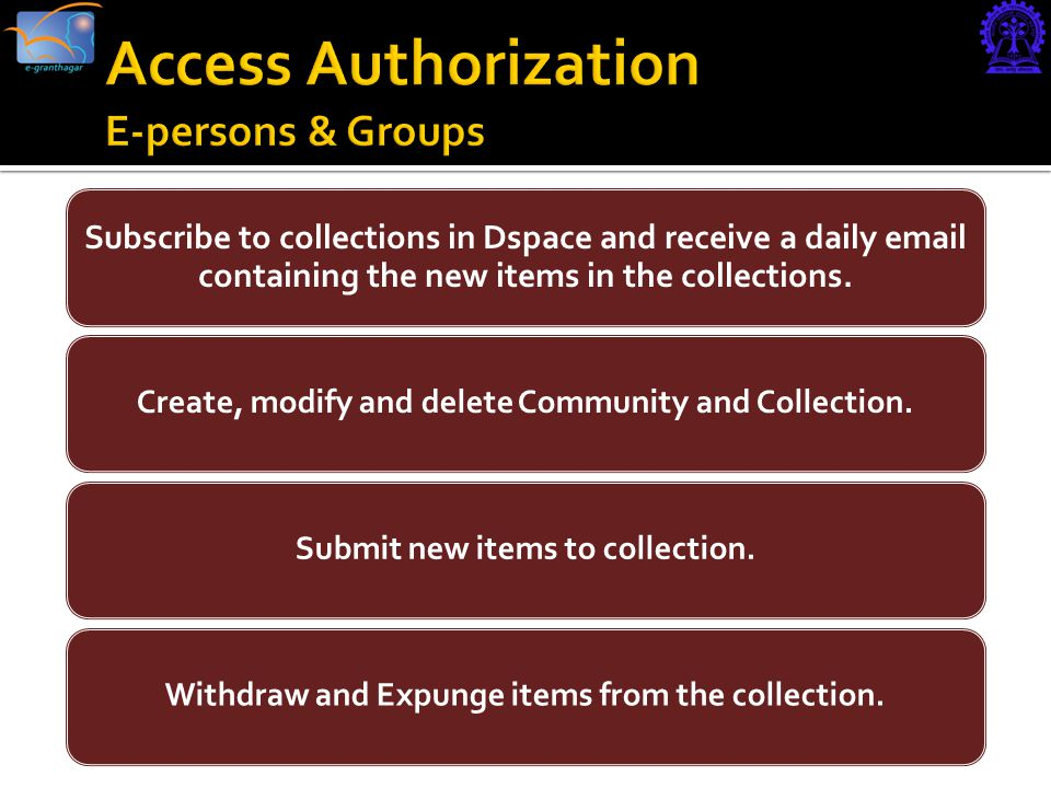Subscribe to collections in Dspace and receive a daily  containing the new items in the collections.