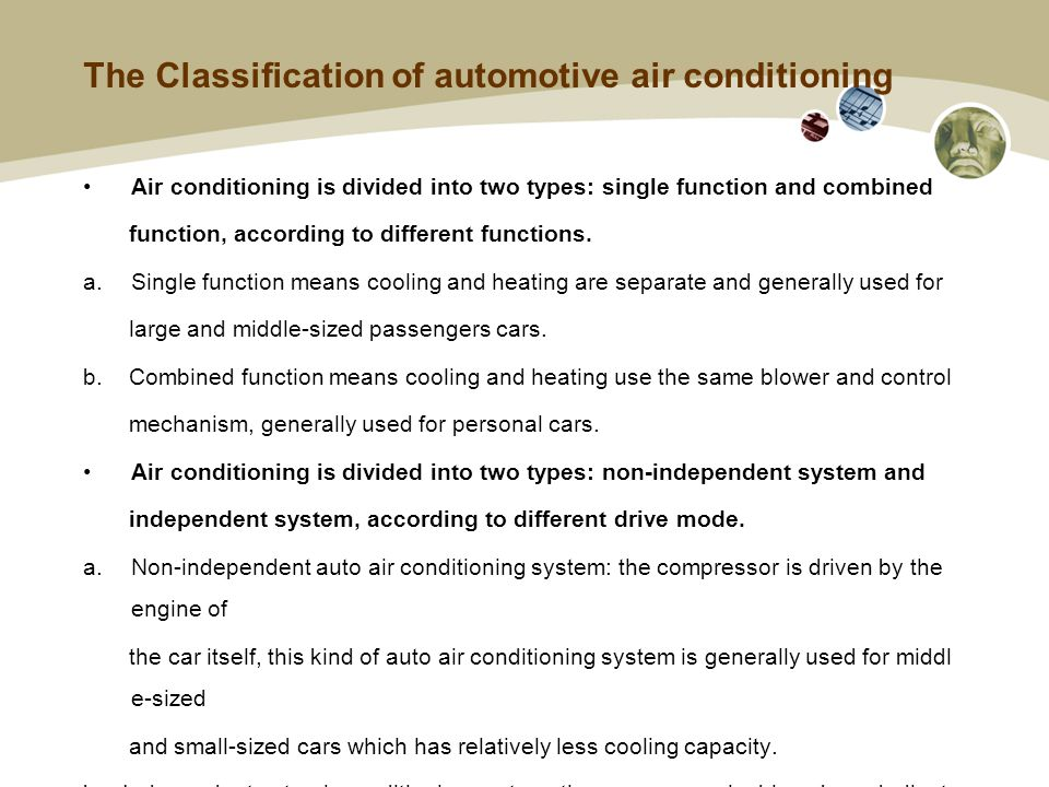 Automotive Air Conditioning System Principle  What is Air