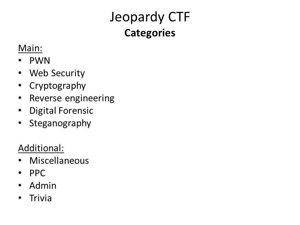 CAPTURE THE FLAG (CTF) Maxim A  Kulakov (Vladimir State University
