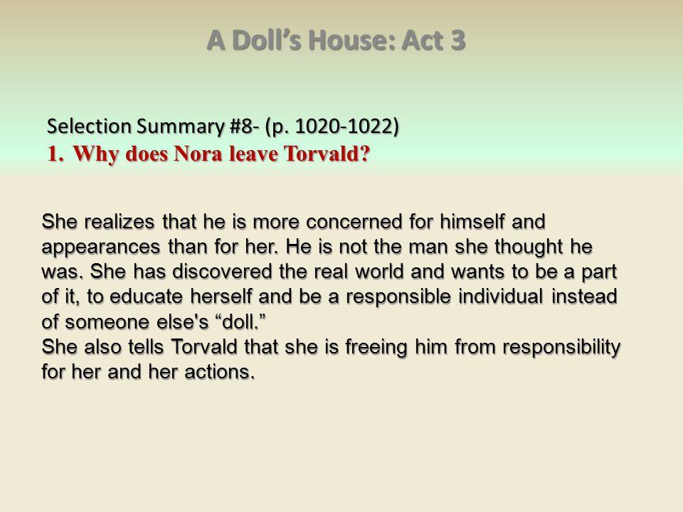 a dolls house act 3 summary