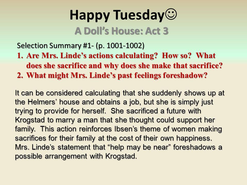 A Dolls House Act 1 A Doll S House Act 2 Summary 2019 01 29