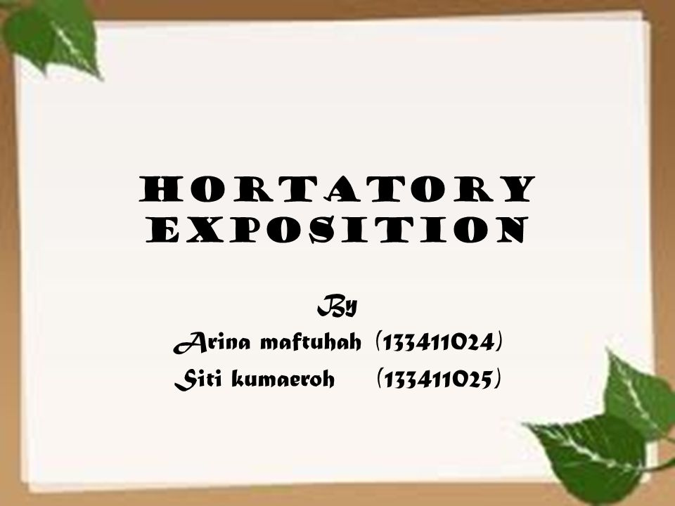 definition of hortatory text
