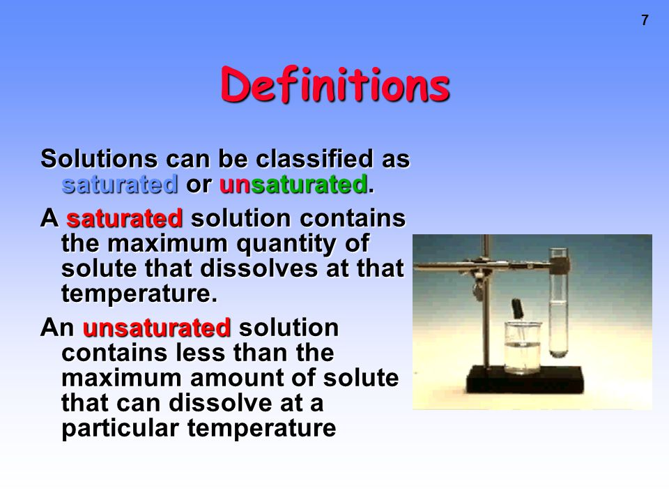 6 What is Solubility.