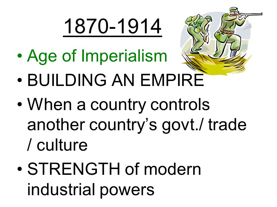 the age of imperialism guided reading A clarifying as you read about the colonization of southeast asia, write notes about each group b clarifying on the back of this paper, identify the following people.