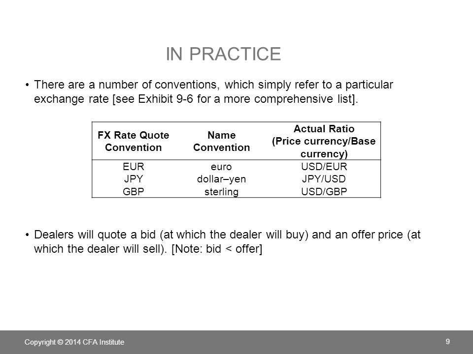 In Practice There Are A Number Of Conventions Which Simply Refer To Particular Exchange