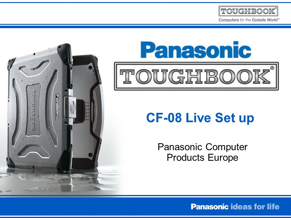 Panasonic Computer Products Europe CF-08 Live Set up