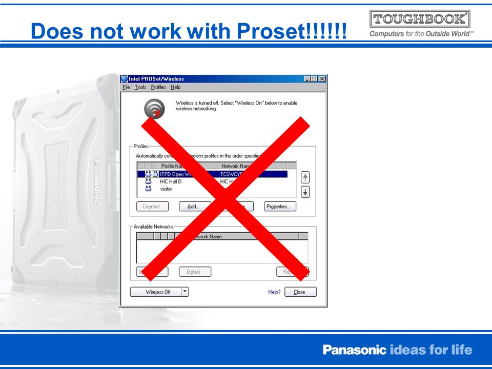 Does not work with Proset!!!!!!