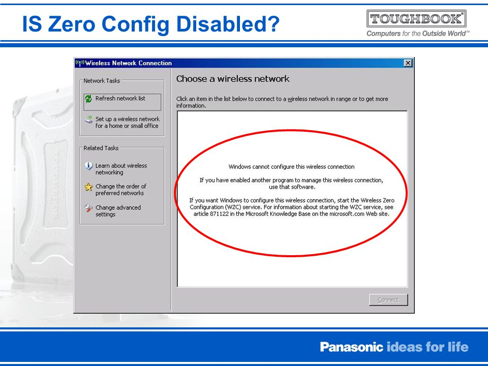IS Zero Config Disabled