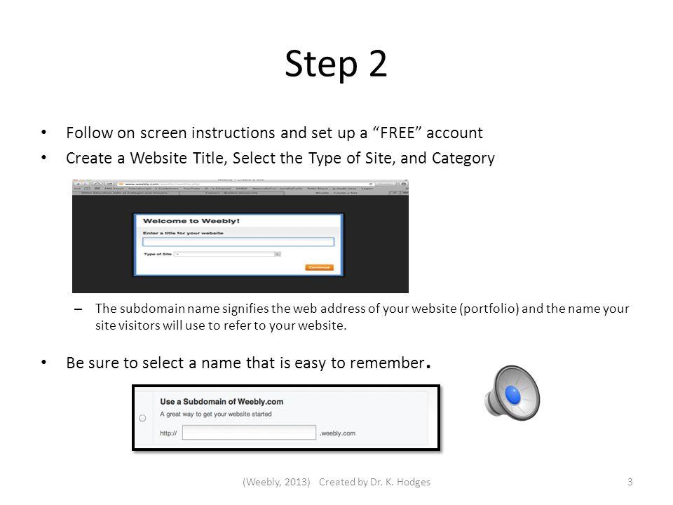 Weebly com E- Portfolio Instructional Guide Step 1 Using Internet