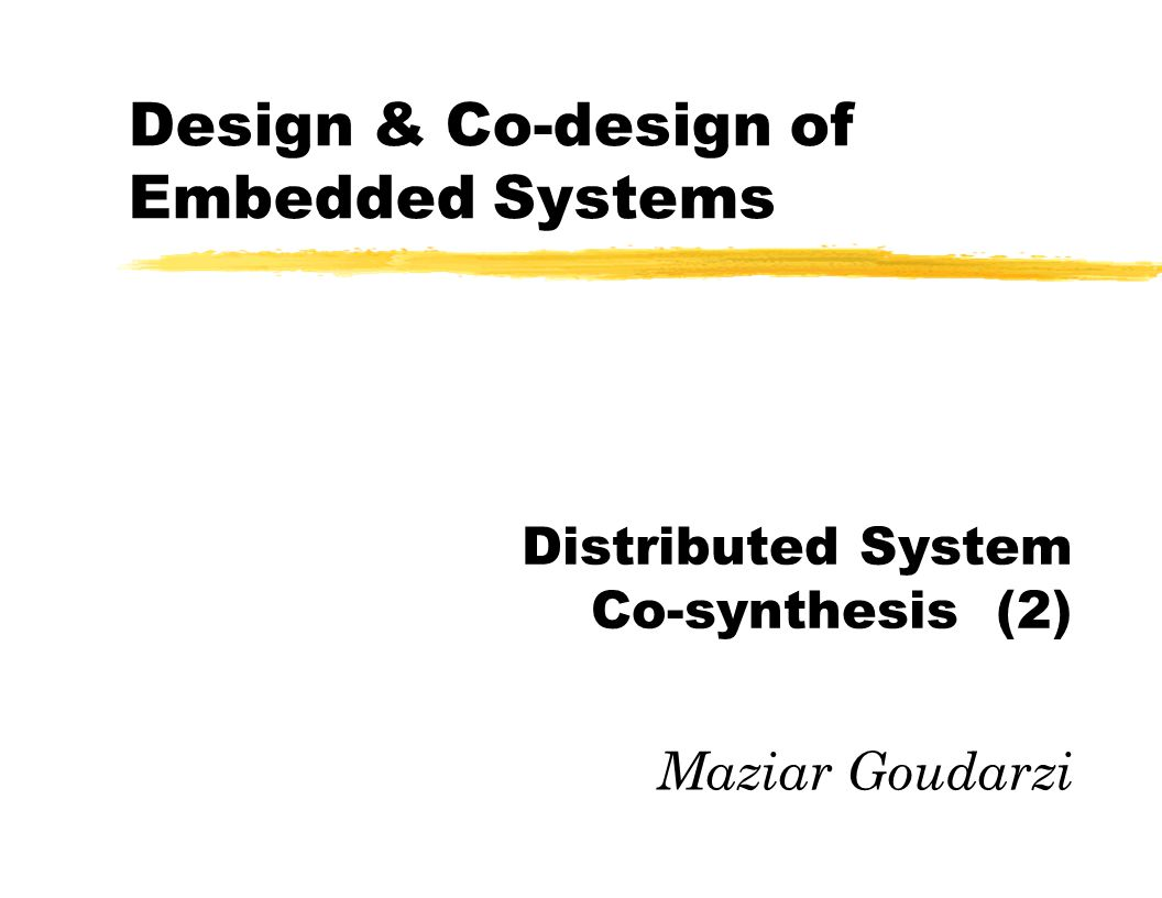 DISTRIBUTED SYSTEM CO SYNTHESIS PDF