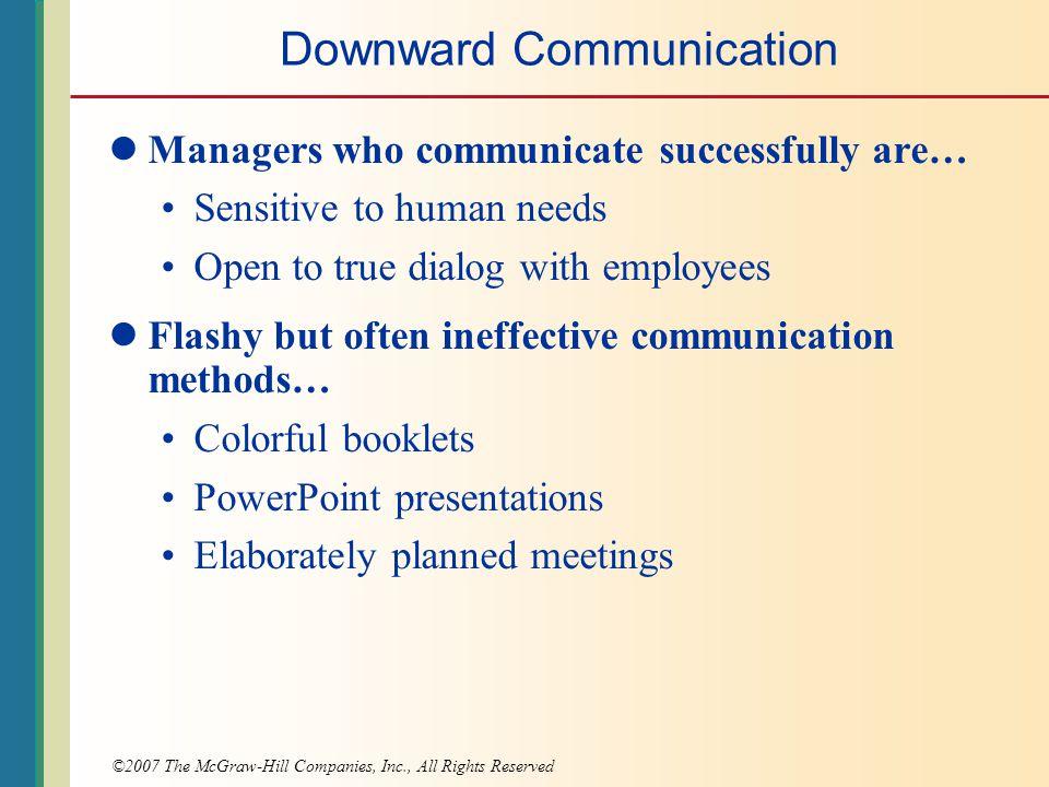 methods of downward communication