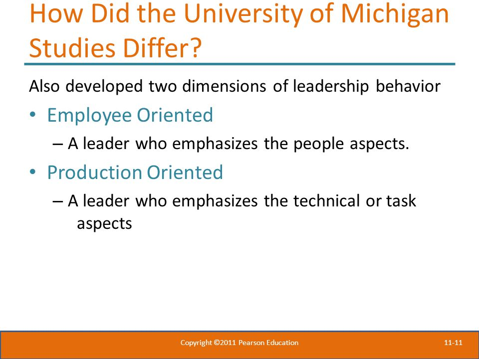 11-11 How Did the University of Michigan Studies Differ.