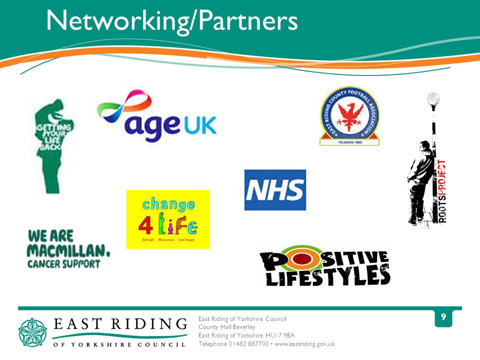 East Riding of Yorkshire Council County Hall Beverley East Riding of Yorkshire HU17 9BA Telephone Networking/Partners