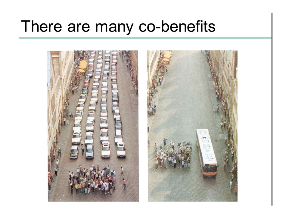 There are many co-benefits