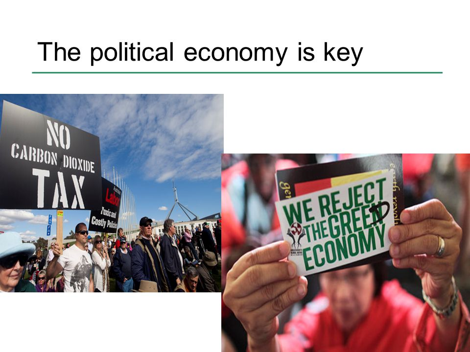 The political economy is key