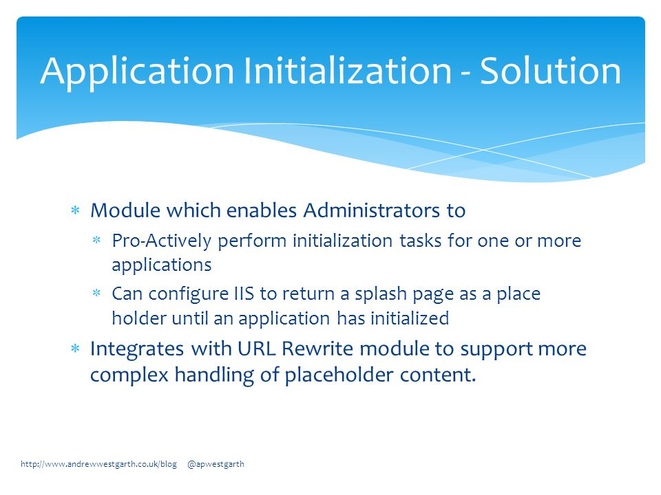 IIS 8 – Platform for the Future Andrew Westgarth - ppt download