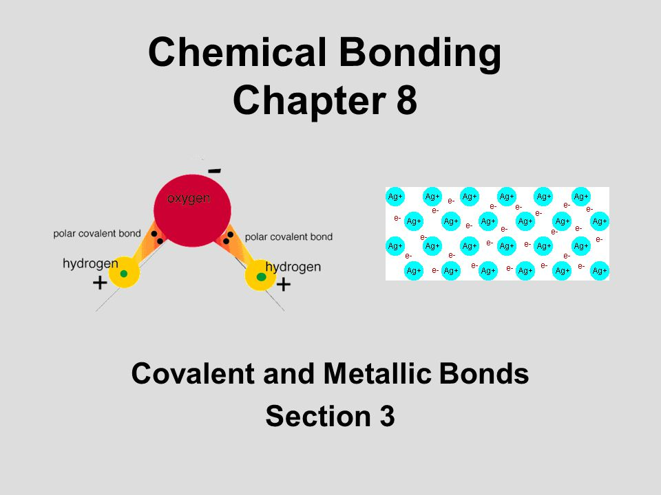 Chemical Bonding Chapter 8 Covalent And Metallic Bonds