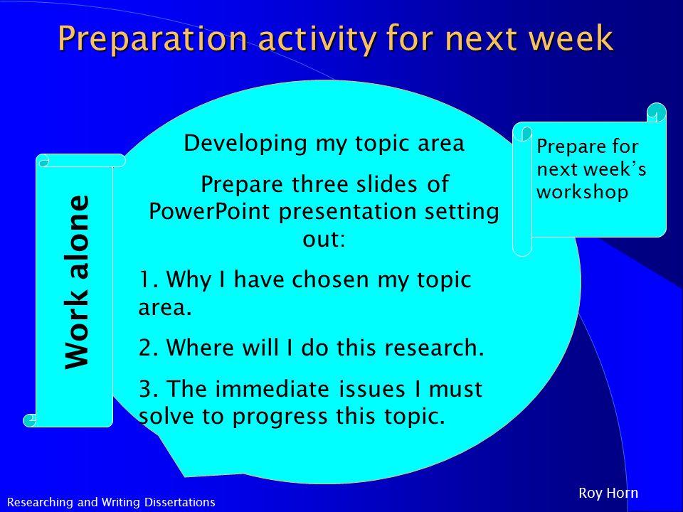 Dissertation writing week