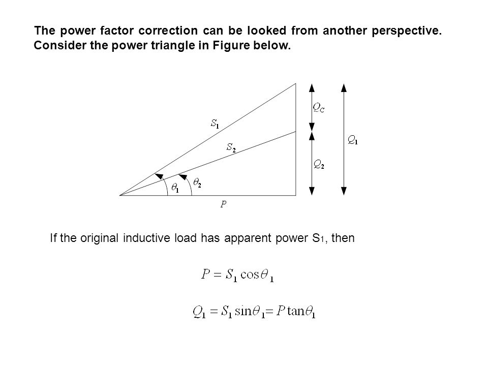 Power Factor Correction Most domestic loads (such as washing