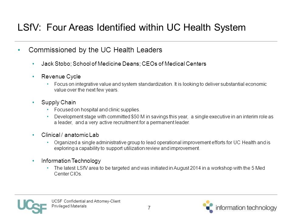 UCSF Information Technology Update on Key Topics October ppt