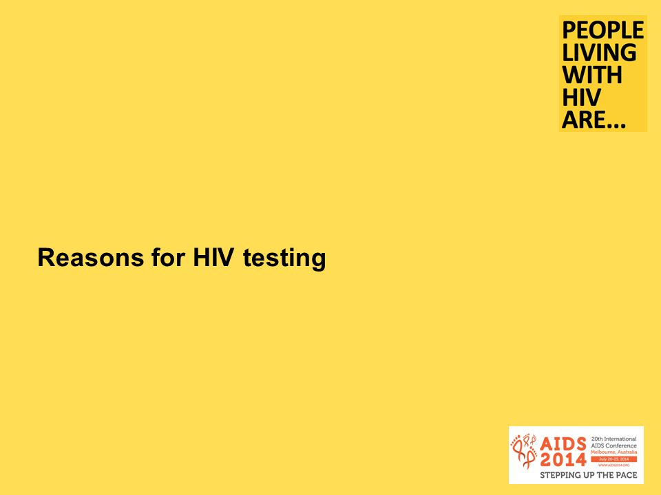 Reasons for HIV testing