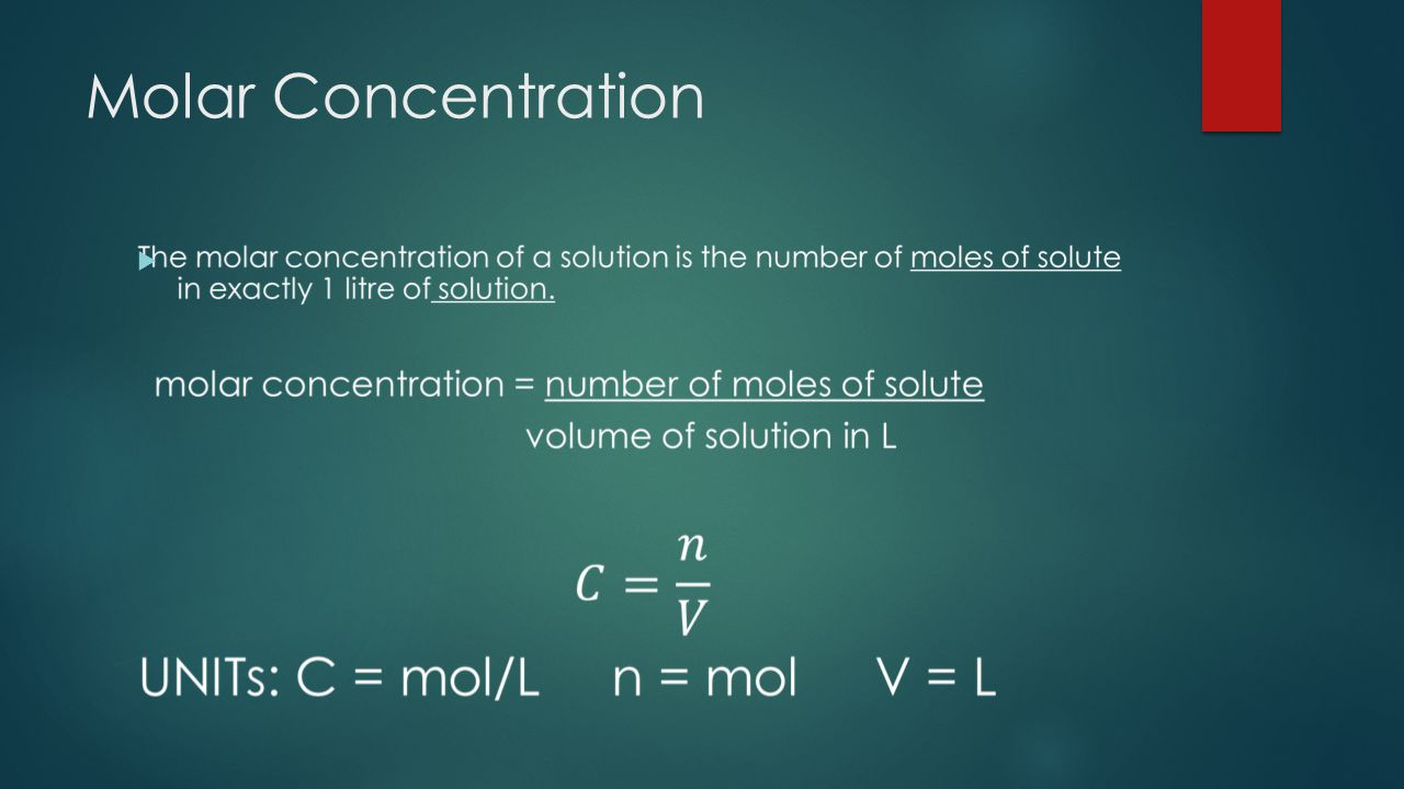 Molar Concentration 