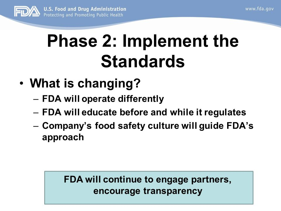 Phase 2: Implement the Standards What is changing.
