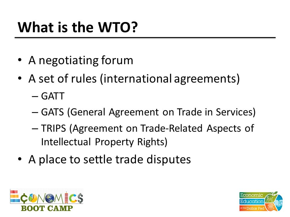 What is the WTO.