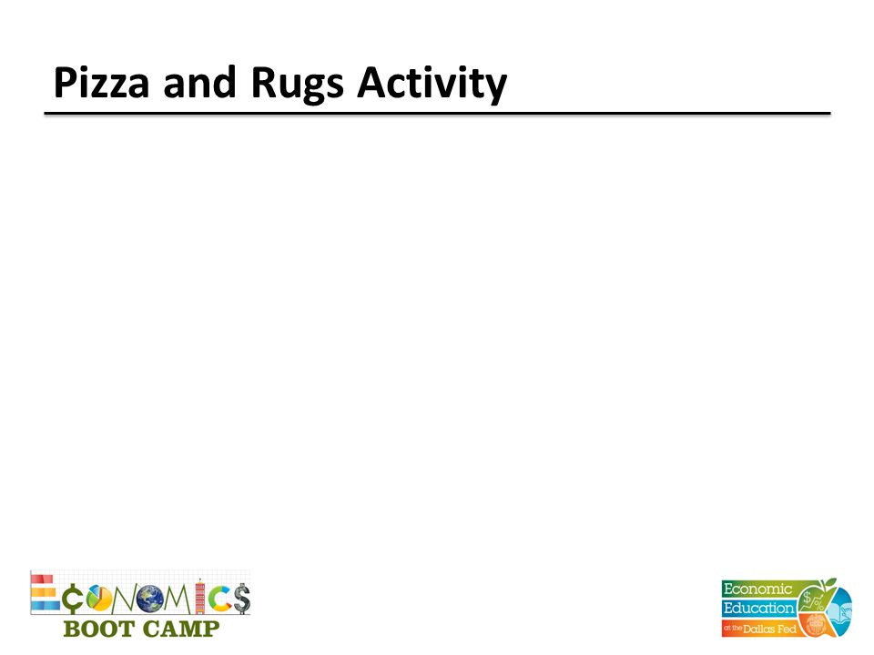 Pizza and Rugs Activity