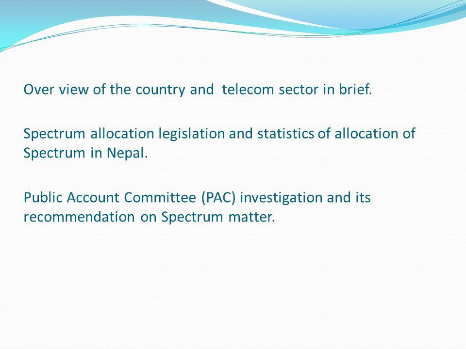 Spectrum issues in Nepal P  Khanal Nepal Telecommunications