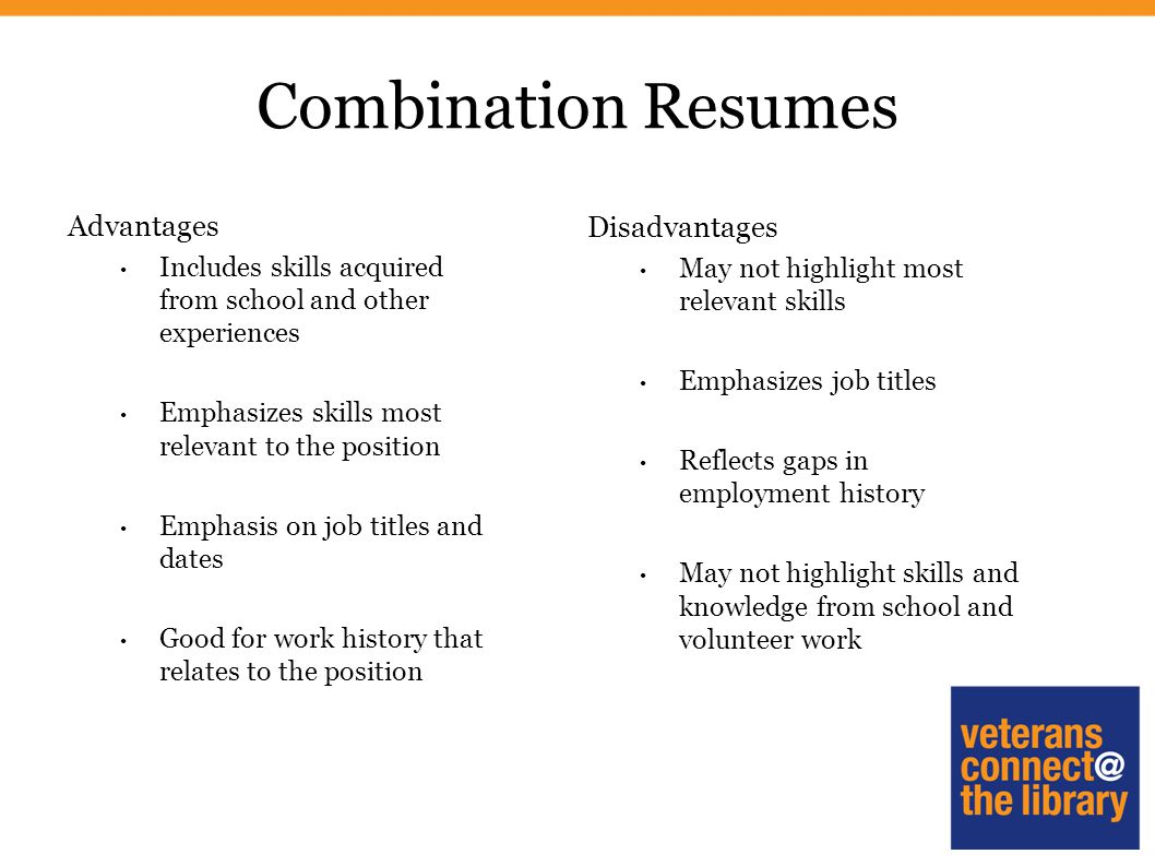 Creating an Effective Resume. Styles of Resumes Chronological ...