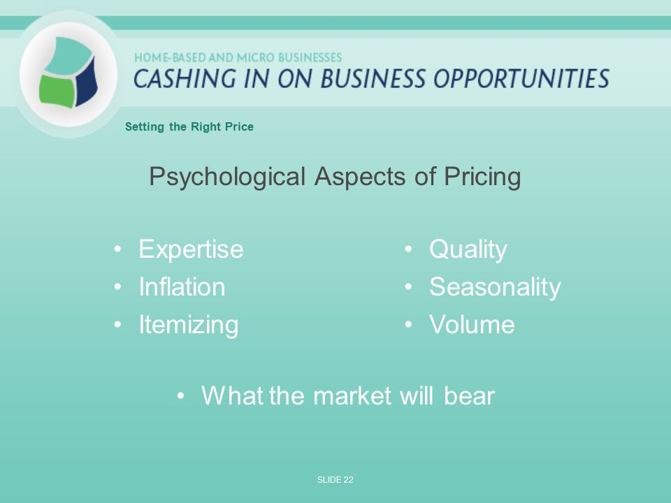 the different aspects of pricing that Business essays: the different aspects of pricing that could change the way a business functions.