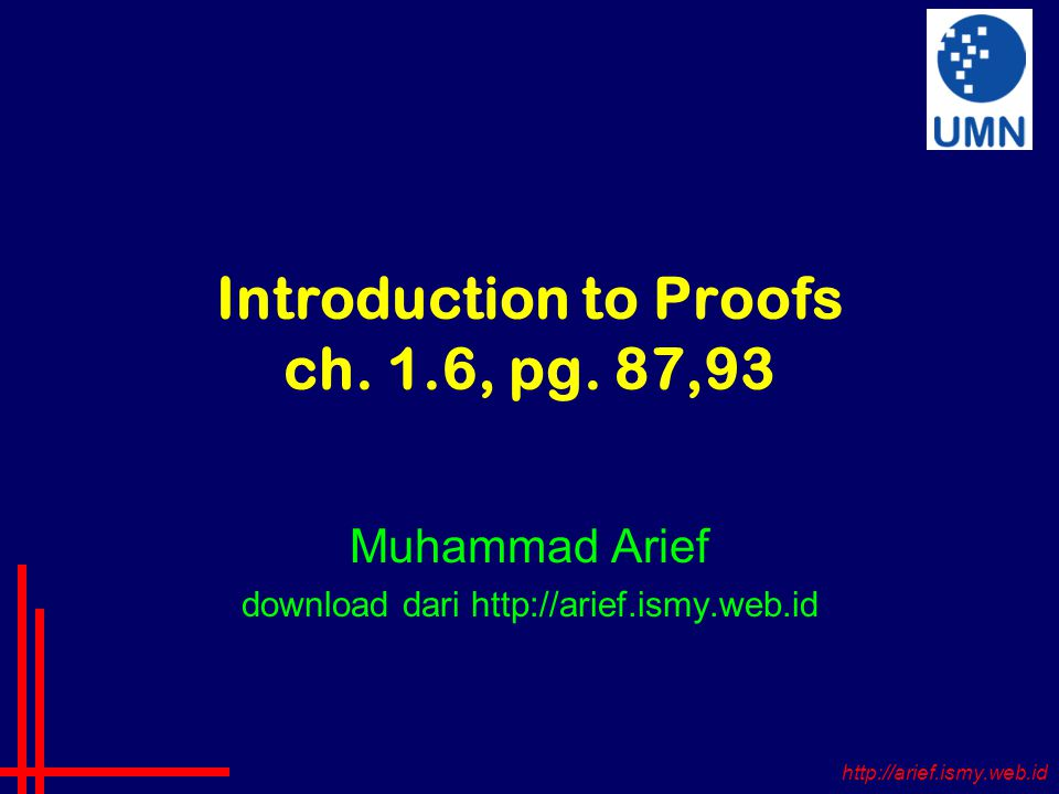Introduction to Proofs ch. 1.6, pg.