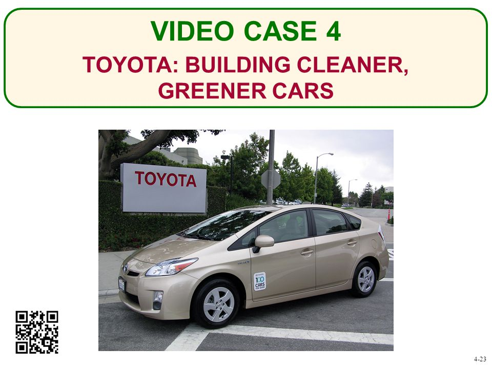 TOYOTA: BUILDING CLEANER, GREENER CARS VIDEO CASE