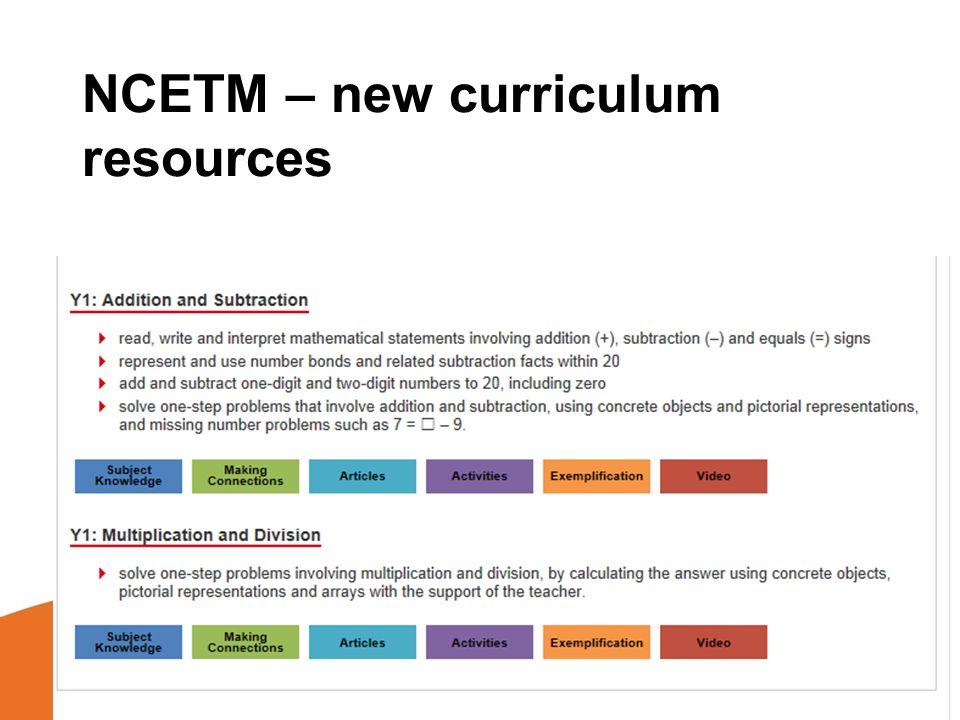 ncetm problem solving resources
