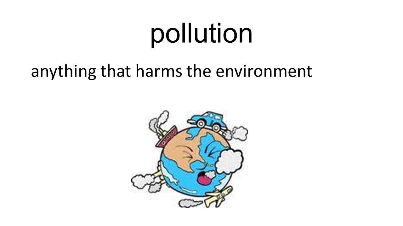 pollution anything that harms the environment