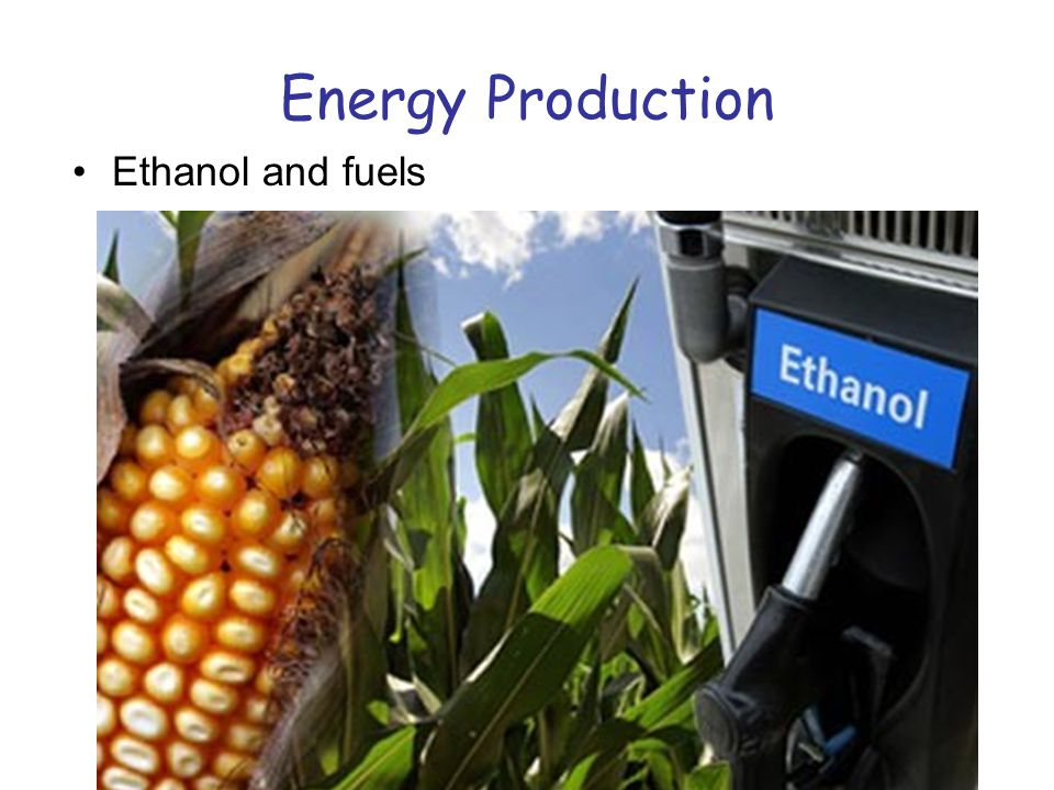 Energy Production Ethanol and fuels