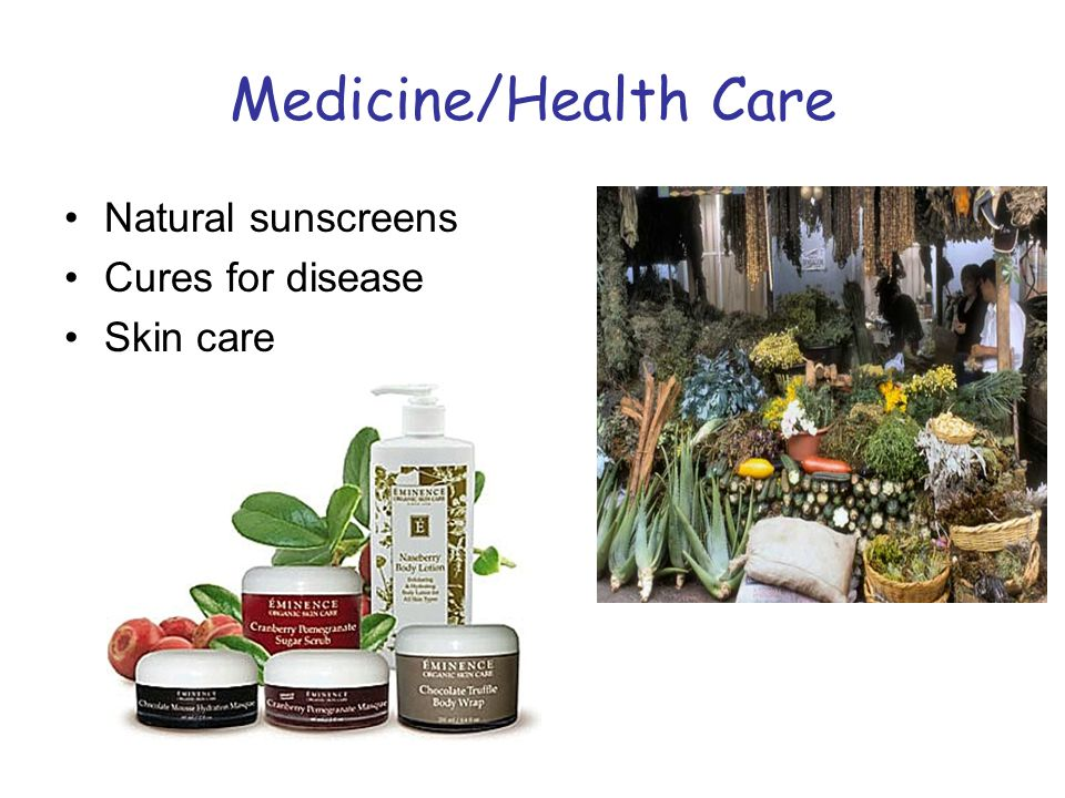 Medicine/Health Care Natural sunscreens Cures for disease Skin care