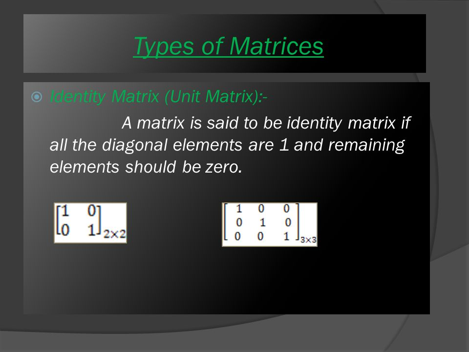  Upper Triangular matrix :- if all the elements above the diagonal are zero then this type of matrix is called Upper triangular matrix For Ex.