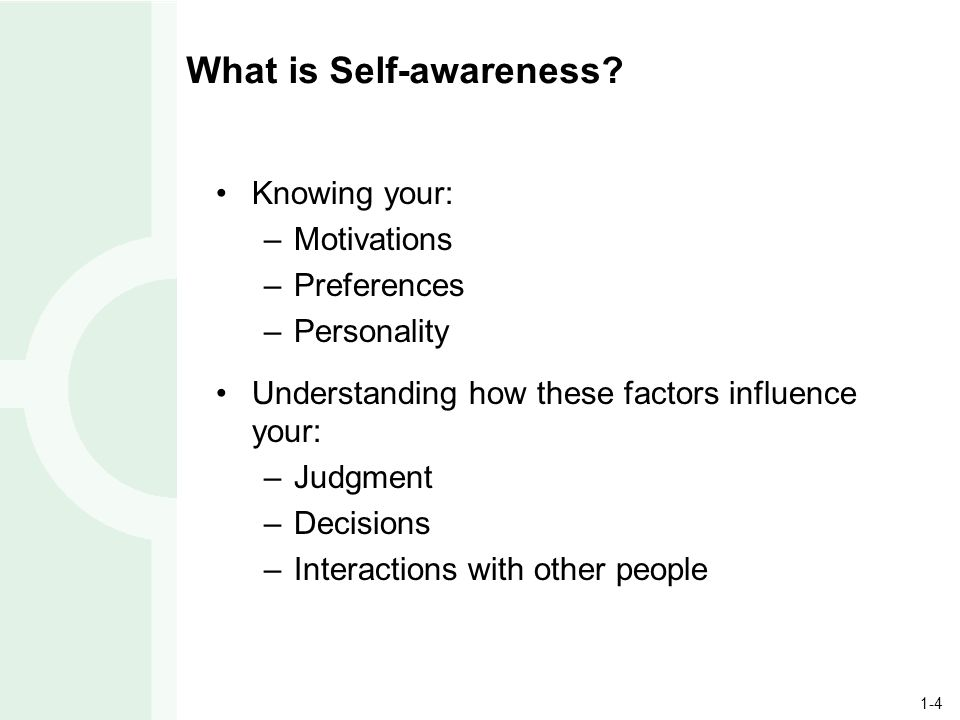 1-4 What is Self-awareness.