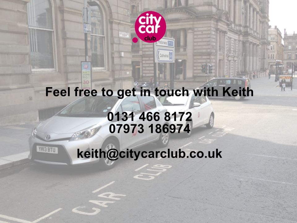 Feel free to get in touch with Keith